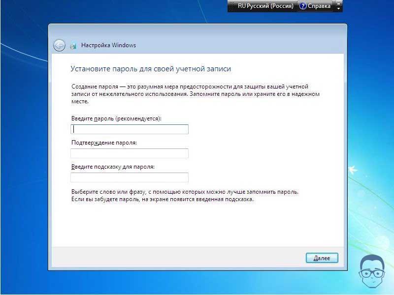 переустановка windows 7 с флешки